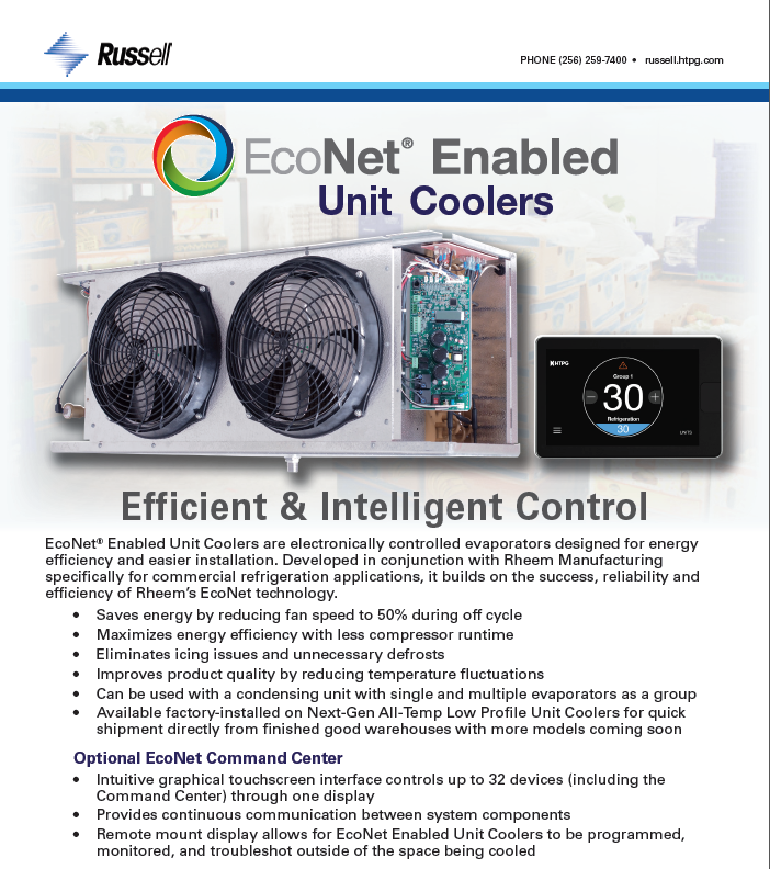 unit cooler temperature control